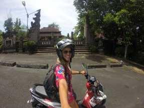Riding around seeing different temples around Bali