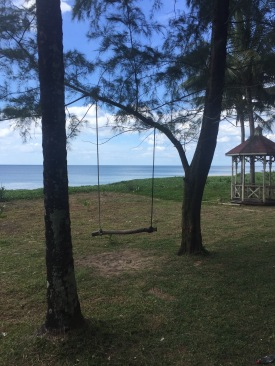Cute swing looking out to Andaman Sea