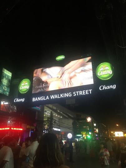 Different advertisements on Bangla Road