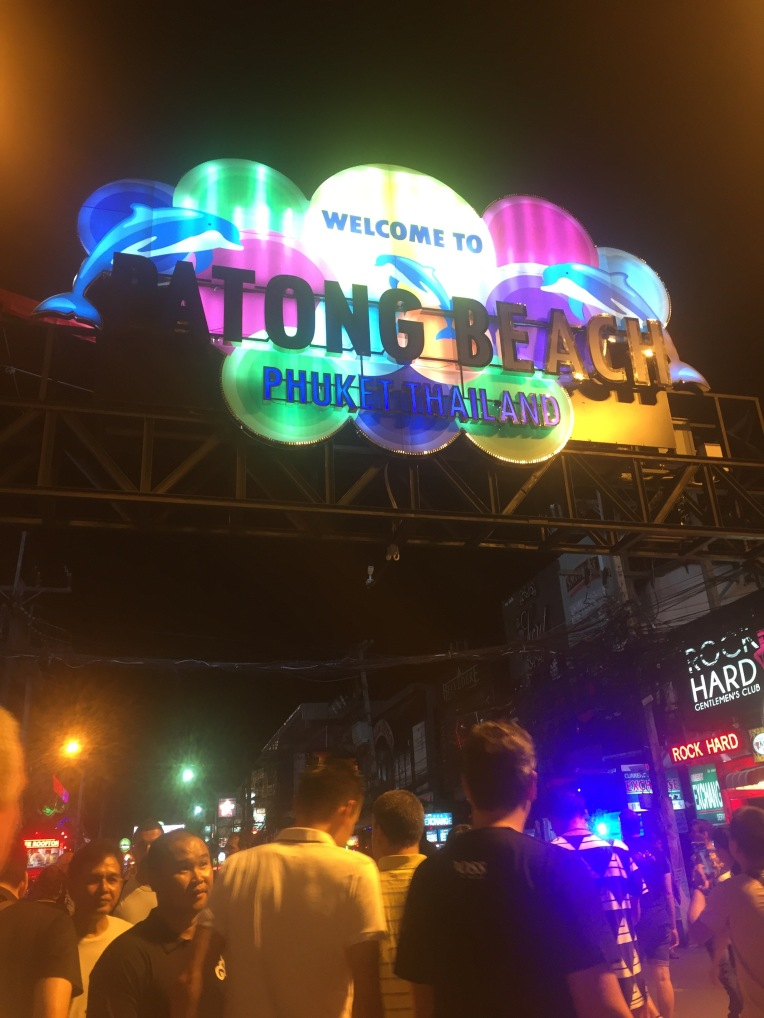 The main road to go out on in Phuket - Bangla Road.