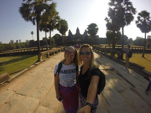 Sarah and I at Angkor Wat right after the sunrise