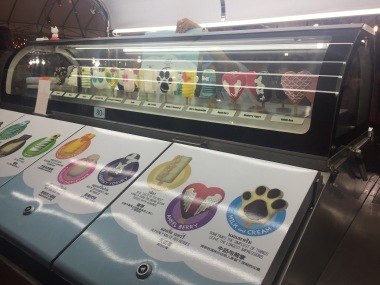 Ice Cream at the Night Bazaar in Chiang Mai that reminded me of Penn State!