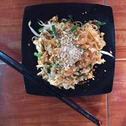 SPICY Pad Thai...maybe when I cook it at home I will add less spice to it :P