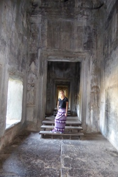 The eerie hallways in Angkor Wat