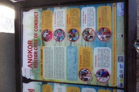 The rules of Angkor Wat, notice the rule about children.