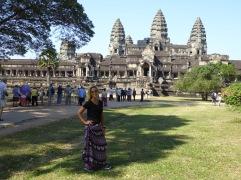 The beautiful Angkor Wat behind me!