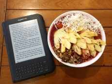 Found an amazing Acai Bowl and stayed here to finish reading Shoe Dog!