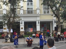 The locals performing on a Sunday