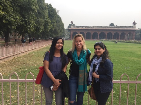 Bhumika, myself and Vaani in front of the Red Fort!