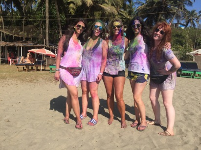 New friends dressed up for Holi!
