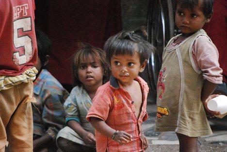 Kids roaming around the streets.