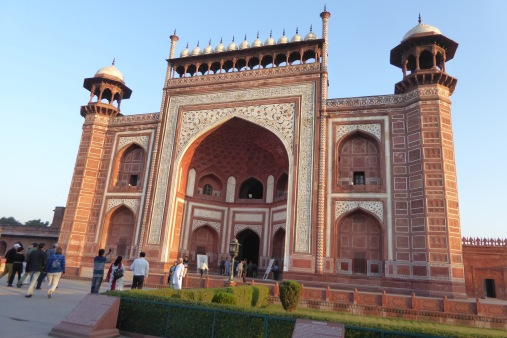 The Great Gate to enter to see the Taj Mahal