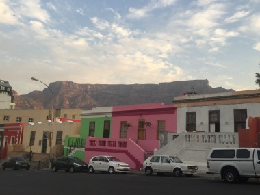 Bo-Kaap with Table Mountain was the backdrop!