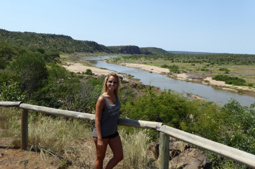 Next to a lookout at Kruger right after lunch!