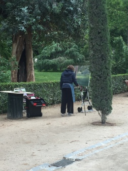 Painter in El Parque del Buen Retiro
