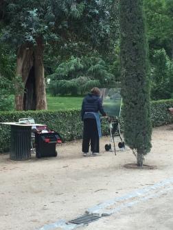 Painter in El Parque del Buen Retiro