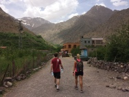 Timo and I starting the trek!
