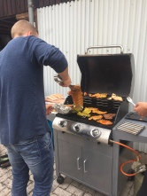 Dustin grilling up the goods!