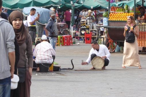 More Snake Charmers with a guy taking a picture