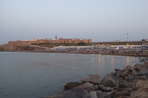 The beach was filled with people breaking the fast!